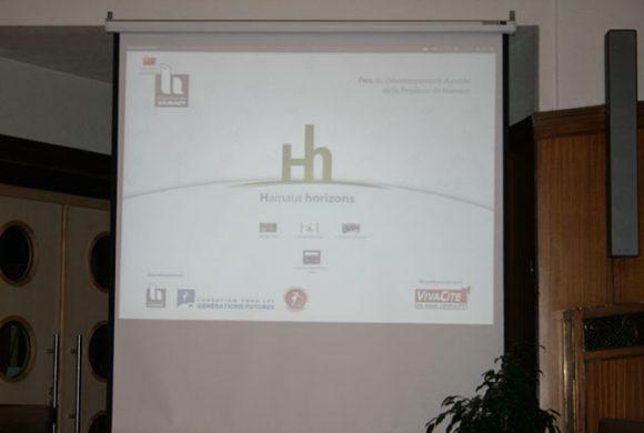 Cérémonie de Remise des Prix Hainaut horizons 2012, le 14 décembre au Gouvernement provincial à Mons.
